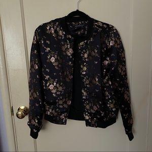 Brandy Melville Jackets & Coats - Brandy Melville Floral Bomber